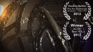Screenshot of the award-winning short film Ars Rata