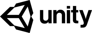 Black Logo of the Unity Engine